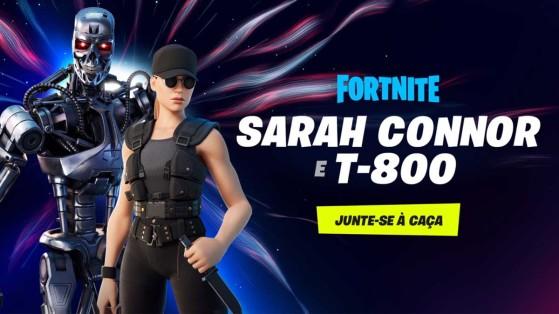 Fortnite: Sarah Connor e T-800 são as novas skins da Temporada 5