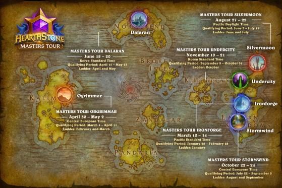 Calendário das competições Masters Tours em 2021 | Foto: Blizzard/Reprodução - Hearthstone