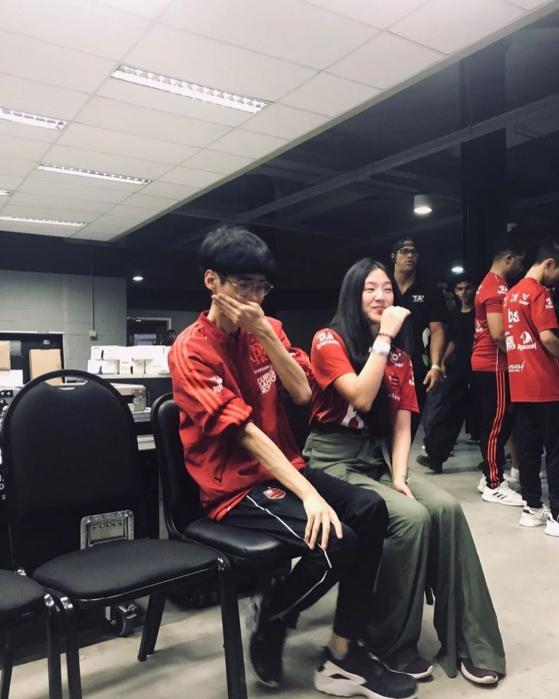 Shrimp e Ga durante o segundo split do CBLOL de 2019 — Foto: Ga Kim/Instagram - League of Legends