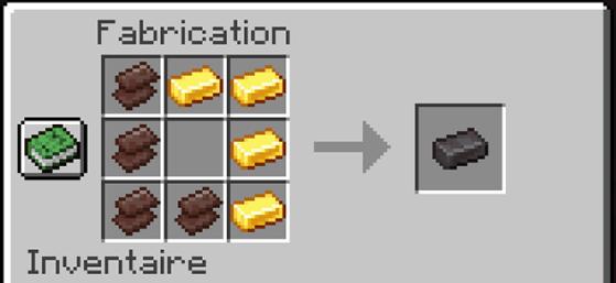 4 fragmentos e 4 barras de ouro = uma barra de Netherite - Minecraft