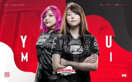 Yatsu e Mayumi, jogadoras de League of Legends da INTZ | Foto: INTZ/Reprodução - League of Legends