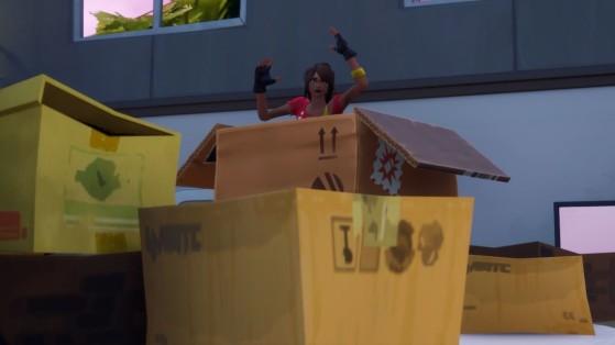 Fortnite: Esconda-se em um Papelão Pavoroso na Fábrica de Caixas