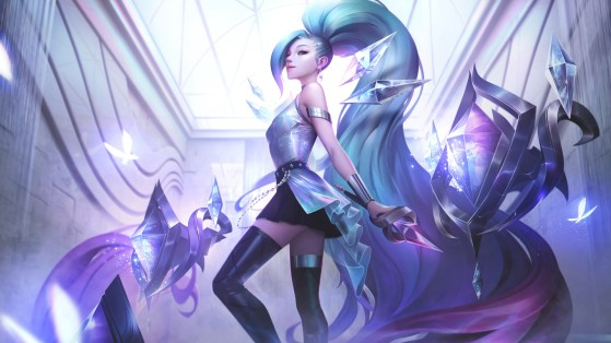 Seraphine, nova campeã e membro estreante do grupo K/DA.   Imagem: Riot Games/Reprodução - League of Legends