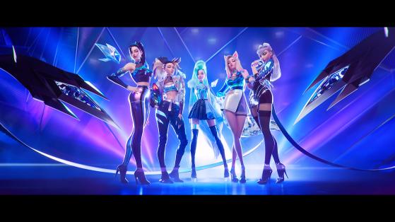 Kai'Sa, Akali, Seraphine, Ahri e Evelynn no clipe de MORE   Imagem: Reprodução - League of Legends