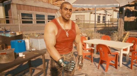 Inspetor do Distrito Policial de Night City, River Ward também é uma das opções de romance do jogo - Cyberpunk 2077