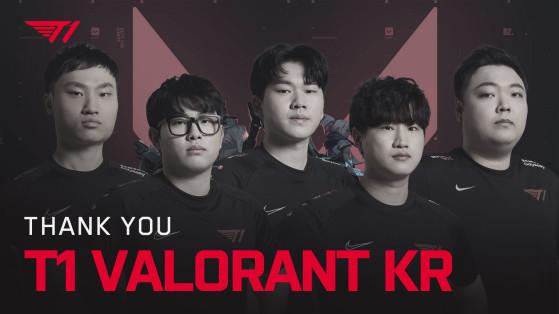 T1 dispensa toda a equipe coreana de Valorant