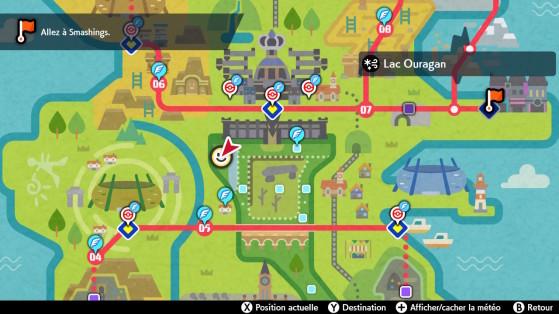 Localização no mapa - Pokémon Sword and Shield